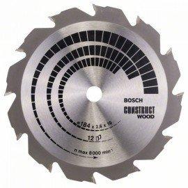 Bosch Körfűrészlap, Construct Wood 184 x 16 x 2,6 mm; 12