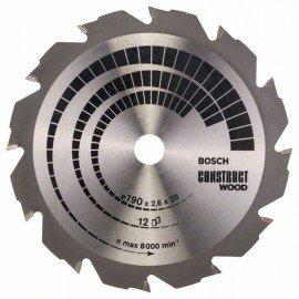Bosch Körfűrészlap, Construct Wood 190 x 20/16 x 2,6 mm; 12
