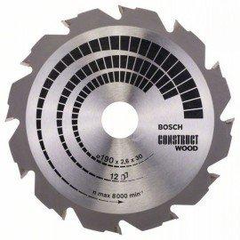 Bosch Körfűrészlap, Construct Wood 190 x 30 x 2,6 mm; 12
