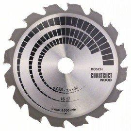 Bosch Körfűrészlap, Construct Wood 235 x 30/25 x 2,8 mm; 16