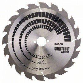 Bosch Körfűrészlap, Construct Wood 250 x 30 x 3,2 mm; 20