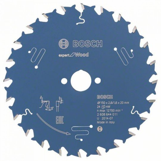 Bosch Körfűrészlap, Expert for Wood 150 x 20 x 2,6 mm, 24