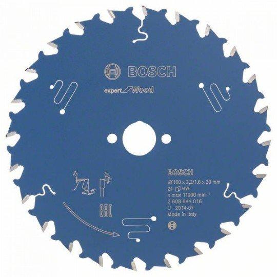 Bosch Körfűrészlap, Expert for Wood 160 x 20 x 2,2 mm, 24