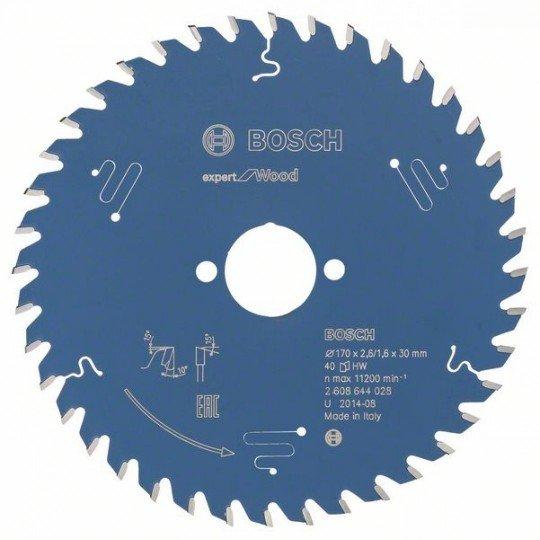 Bosch Körfűrészlap, Expert for Wood 170 x 30 x 2,6 mm, 40
