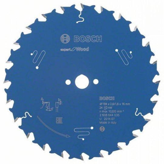 Bosch Körfűrészlap, Expert for Wood 184 x 16 x 2,6 mm, 24