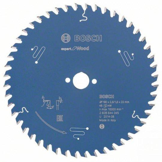 Bosch Körfűrészlap, Expert for Wood 190 x 20 x 2,6 mm, 48