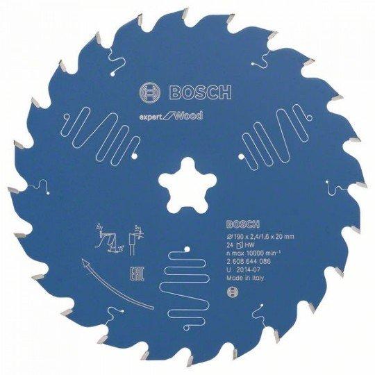 Bosch Körfűrészlap, Expert for Wood 190 x 2,4 mm, 24