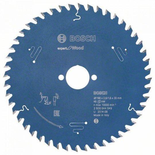 Bosch Körfűrészlap, Expert for Wood 190 x 30 x 2,6 mm, 48