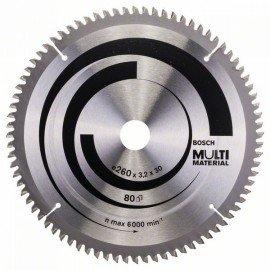 Bosch Körfűrészlap, Multi Material 260 x 30 x 3,2 mm; 80
