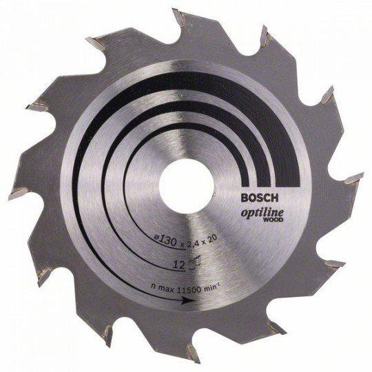 Bosch Körfűrészlap, Optiline Wood 130 x 20/16 x 2,4 mm, 12