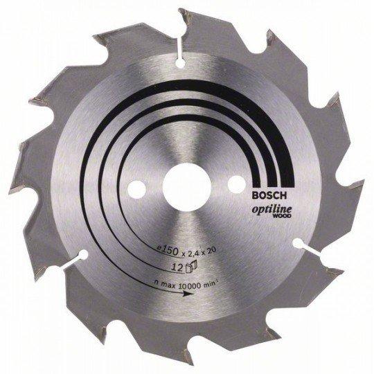 Bosch Körfűrészlap, Optiline Wood 150 x 20/16 x 2,4 mm, 12