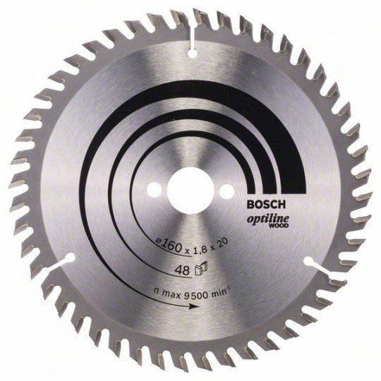 Bosch Körfűrészlap, Optiline Wood 160 x 20/16 x 1,8 mm, 48