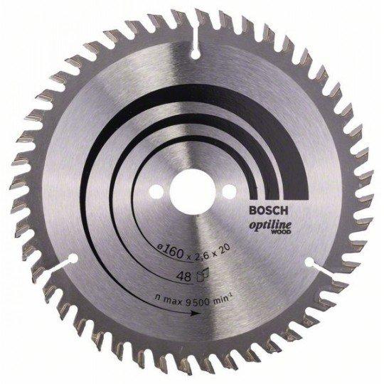 Bosch Körfűrészlap, Optiline Wood 160 x 20/16 x 2,6 mm, 48