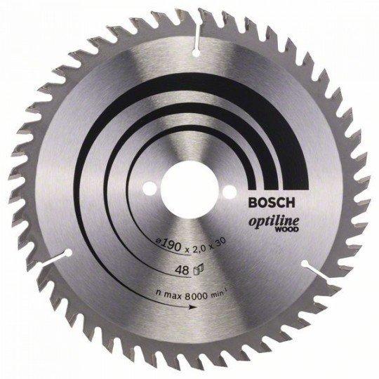 Bosch Körfűrészlap, Optiline Wood 190 x 30 x 2,0 mm, 48