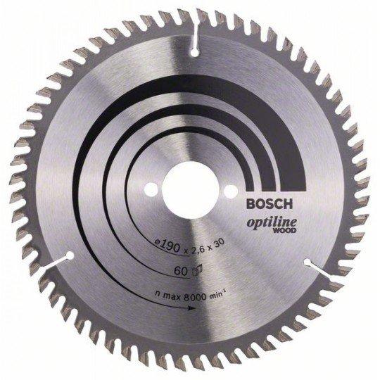 Bosch Körfűrészlap, Optiline Wood 190 x 30 x 2,6 mm, 60