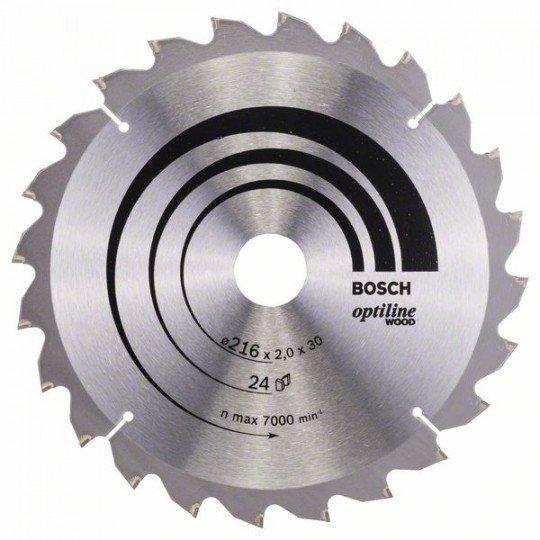 Bosch Körfűrészlap, Optiline Wood 216 x 30 x 2,0 mm, 24