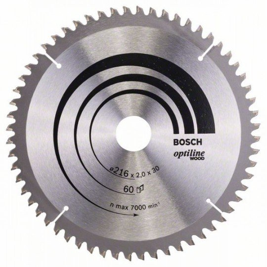 Bosch Körfűrészlap, Optiline Wood 216 x 30 x 2,0 mm, 60
