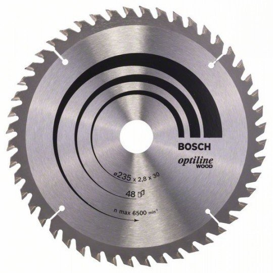 Bosch Körfűrészlap, Optiline Wood 235 x 30/25 x 2,8 mm, 48