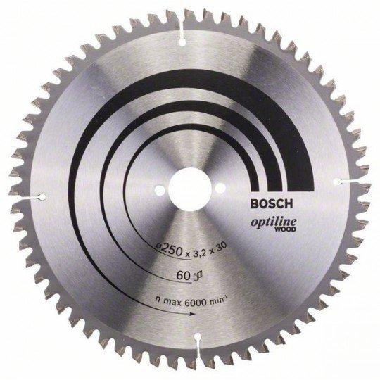 Bosch Körfűrészlap, Optiline Wood 250 x 30 x 3,2 mm, 60