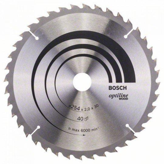 Bosch Körfűrészlap, Optiline Wood 254 x 30 x 2,0 mm, 40