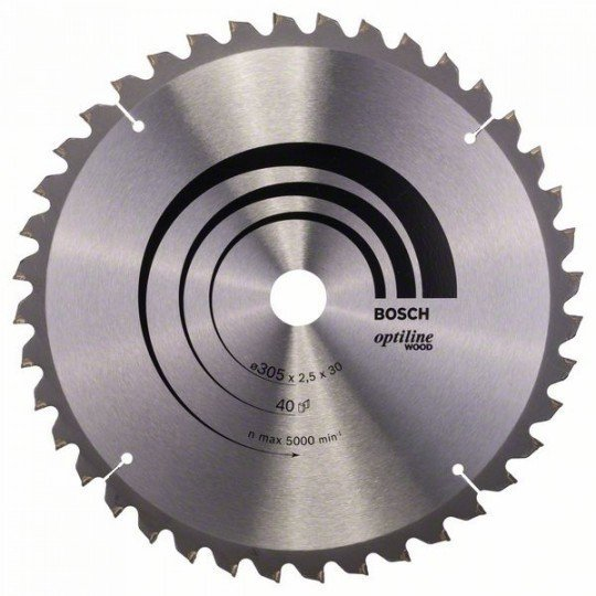 Bosch Körfűrészlap, Optiline Wood 305 x 30 x 2,5 mm, 40