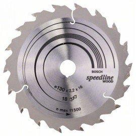 Bosch Körfűrészlap, Speedline Wood 130 x 16 x 2,2 mm, 18