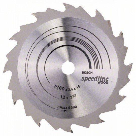 Bosch Körfűrészlap, Speedline Wood 160 x 16 x 2,4 mm, 12
