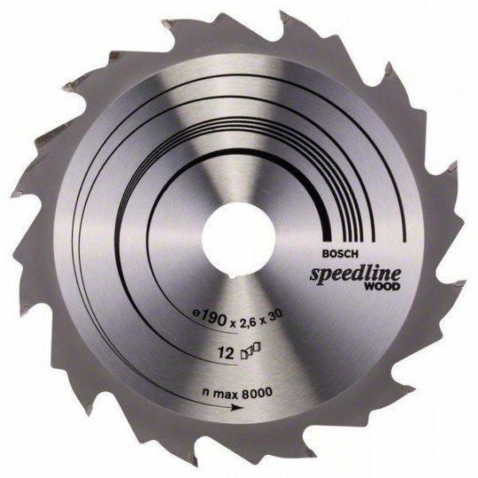 Bosch Körfűrészlap, Speedline Wood 190 x 30 x 2,6 mm, 12