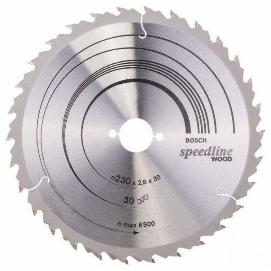 Bosch Körfűrészlap, Speedline Wood 230 x 30 x 2,6 mm, 30