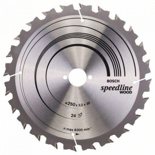 Bosch Körfűrészlap, Speedline Wood 250 x 30 x 3,2 mm, 24
