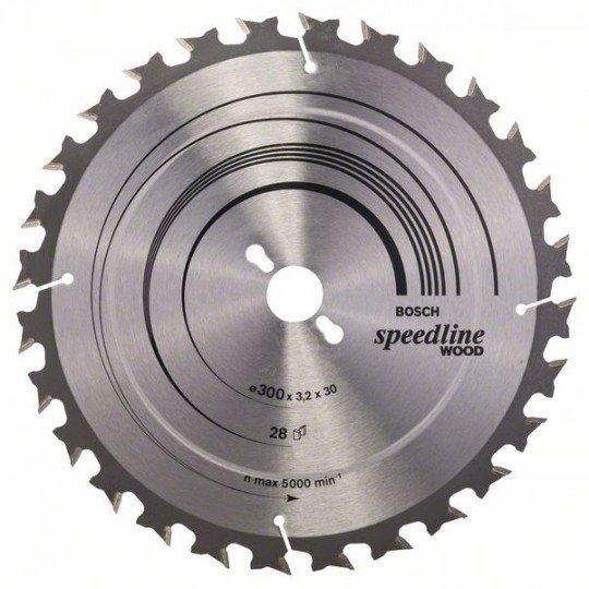 Bosch Körfűrészlap, Speedline Wood 300 x 30 x 3,2 mm, 28