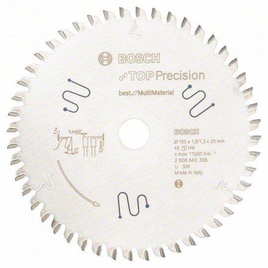 Bosch Körfűrészlap, Top Precision Best for Multi Material 165 x 20 x 1,8 mm, 48