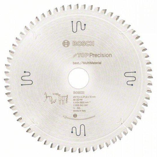 Bosch Körfűrészlap, Top Precision Best for Multi Material 216 x 30 x 2,3 mm, 64