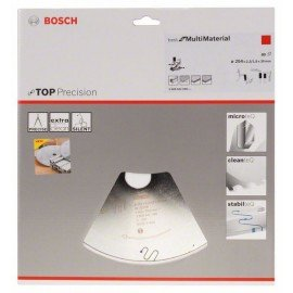 Bosch Körfűrészlap, Top Precision Best for Multi Material 254 x 30 x 2,3 mm, 80