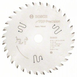 Bosch Körfűrészlap, Top Precision Best for Wood 165 x 20 x 1,8 mm, 32