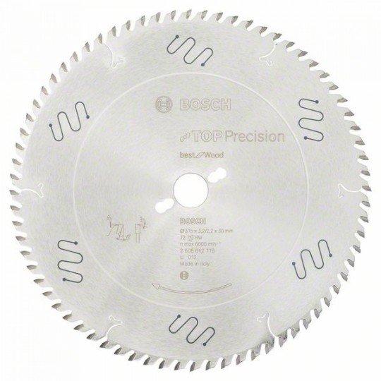 Bosch Körfűrészlap, Top Precision Best for Wood 315 x 30 x 3,2 mm, 72