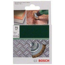 Bosch Korongkefék fúrógépekhez - hullámosított drót, sárgaréz bevonattal, 75 mm D= 75 mm; Szélesség= 16 mm