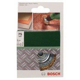 Bosch Korongkefék fúrógépekhez - hullámosított drót, sárgaréz bevonattal, 75 mm D= 75 mm; Szélesség= 8 mm