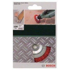 Bosch Korongkefék fúrógépekhez – nejlonhuzal 80-as szemcseméretű korund csiszolóanyaggal, 100 mm Átmérő = 100 mm