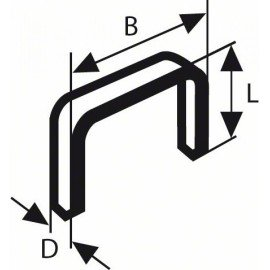 Bosch Laposhuzal-kapocs, típus: 57 10,6 x 1,25 x 14 mm