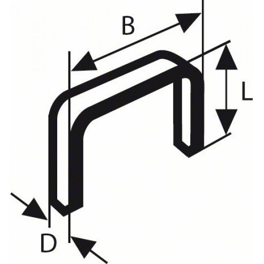 Bosch Laposhuzal-kapocs, típus: 57 10,6 x 1,25 x 6 mm
