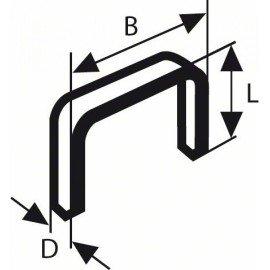 Bosch Laposhuzal-kapocs, típus: 57 10,6 x 1,25 x 8 mm