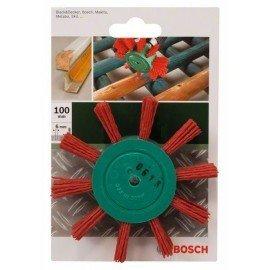 Bosch Legyezőkefe fúrógépekhez – nejlonhuzal 80-as szemcseméretű korund csiszolóanyaggal, 100 mm Átmérő = 100 mm