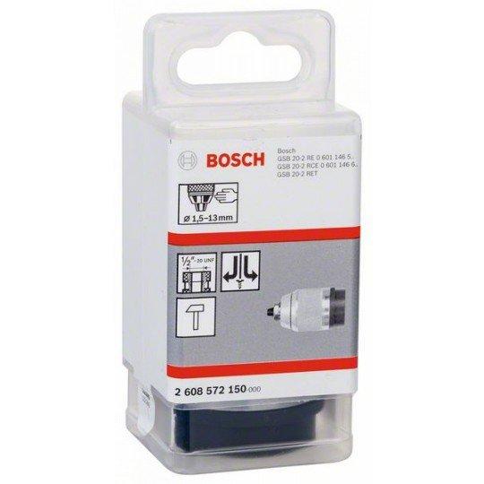 """Bosch Matt-krómozott gyorsbefogó fúrótokmány 1,5-13 mm, 1/2"""" - 20"""
