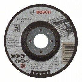 Bosch Nagyolótárcsa, hajlított, Best for Inox A 30 V INOX BF, 115 mm, 7,0 mm