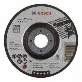 Bosch Nagyolótárcsa, hajlított, Best for Inox A 30 V INOX BF, 125 mm, 7,0 mm