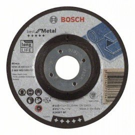 Bosch Nagyolótárcsa, hajlított, Best for Metal A 2430 T BF, 115 mm, 7,0 mm