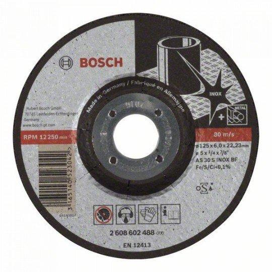 Bosch Nagyolótárcsa, hajlított, Expert for Inox AS 30 S INOX BF, 125 mm, 6,0 mm