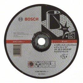 Bosch Nagyolótárcsa, hajlított, Expert for Inox AS 30 S INOX BF, 230 mm, 6,0 mm