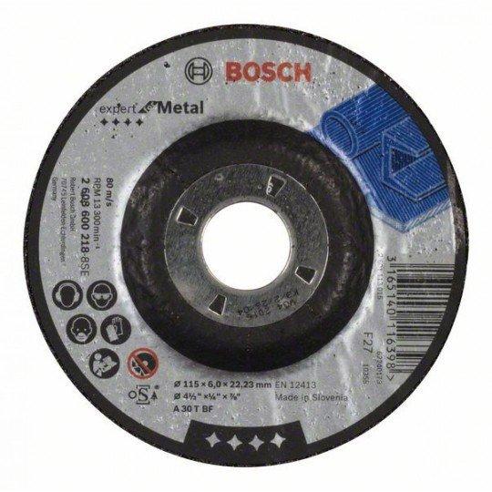 Bosch Nagyolótárcsa, hajlított, Expert for Metal A 30 T BF, 115 mm, 6,0 mm